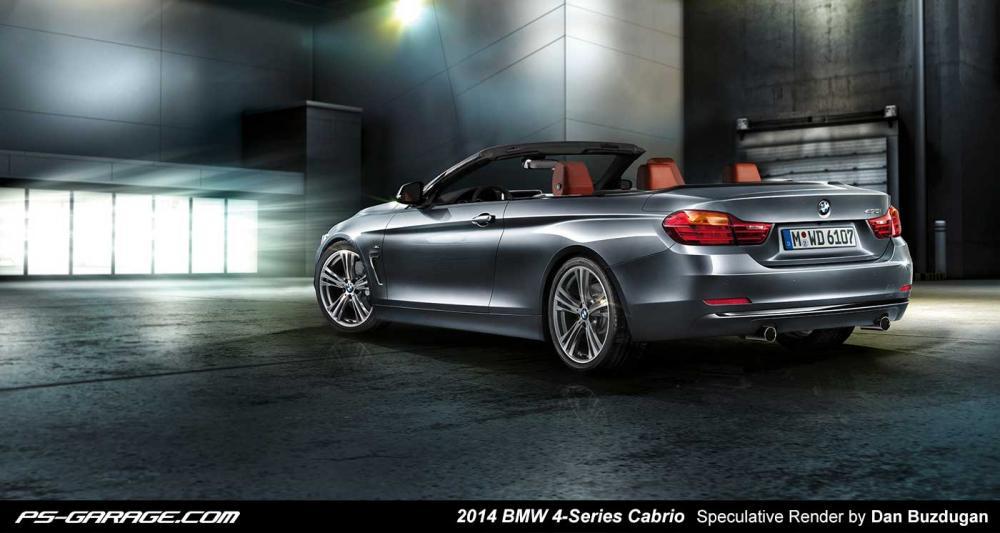 2014 BMW 4er Cabrio F33 Photoshop Rendering Dan Buzdugan PS Garage com1 Nowości motoryzacyjne na 2014 cz.1