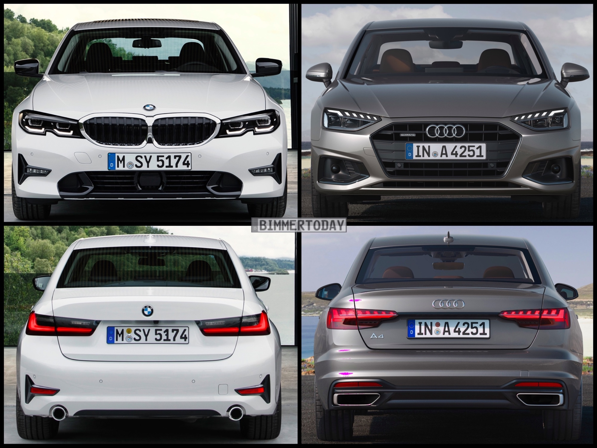 Bild Vergleich Audi A4 Facelift 2019 Trifft Bmw 3er G20